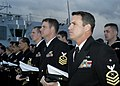 US Navy 070930-N-4649C-085 Sailors aboard Arleigh Burke-class guided-missile destroyer USS Lassen (DDG 82) stand in ranks during a wreath laying ceremony.jpg