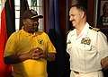 US Navy 090713-N-1655H-159 Capt. Jim Tranoris, commodore of Commander, Task Force 363, meets with Durban Mayor Obed Mlaba.jpg