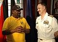 US Navy 090713-N-1655H-159 Capt. Jim Tranoris, commodore of Commander, Task Force 363, meets with Durban Mayor Obed Mlaba.jpg