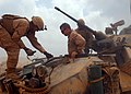 US Navy 100130-N-8829H-085 Commander, Expeditionary Strike Group 5 tours a light armored vehicle.jpg