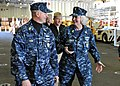 US Navy 101129-N-1281L-010 Master Chief Petty Officer of the Navy Rick West speaks with Command Master Chief Linda Handley during his first visit t.jpg
