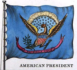Flag of the President of the United States - Claimed presidential flag in 1848 book