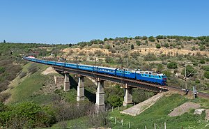Transport in Ukraine - A sleeping train in Ukraine's Crimea region.
