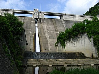 Uchimura Dam Dam in Nagano Prefecture, Japan