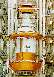 Ulysses sits atop the PAM-S and IUS combination