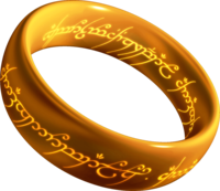 The One Ring with the inscription in the Black Speech