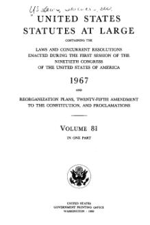 United States Statutes at Large Volume 81.djvu