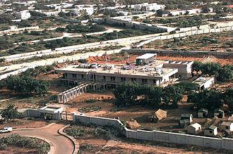 Embassy of the United States, Mogadishu - Image: Unites States Embassy Mogadishu aerial 1992