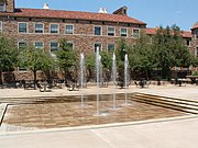 Dalton Trumbo Fountain Court behind the UMC on July 13, 2006