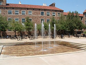 Fountains in the UMC courtyard at the Universi...