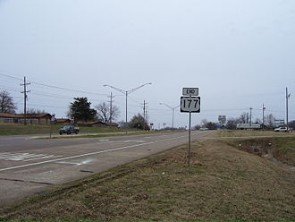 Madill, Oklahoma - State Highway 199, U.S. 177, and U.S. 70