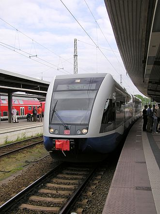 Stralsund Hauptbahnhof - UBB train in station