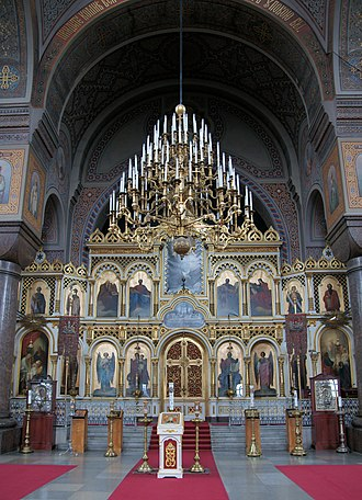 Uspenski Cathedral, Helsinki - The iconostasis of Uspenski Orthodox Cathedral.