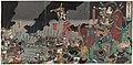 Utagawa Kuniteru II - The Death in Battle of Katsuyori on Mount Tenmoku.jpg