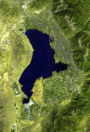 Utah Valley - Image: Utah Lake prove map