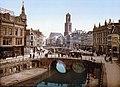 Utrecht - Oude Gracht en Bakkerbrug 1900.jpg