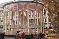 Vörösmarty monument in Budapest with winter protective pavilion - November 2019.jpg