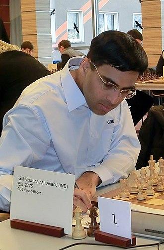 Candidates Tournament 2014 - Viswanathan Anand, the winner of the Candidates Tournament 2014, advanced to the World Chess Championship 2014 match.