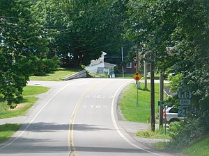 Vermont Route 242 - VT 242 approaching the junction with VT 118 in Montgomery Center