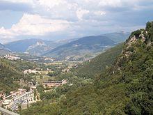 La Valnerina in prossimità di Terni, in direzione di Torre Orsina e Arrone