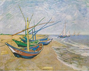 Saintes-Maries (Van Gogh series) - Fishing Boats on the Beach at Saintes-Maries, June 1888, Van Gogh Museum, Amsterdam, Netherlands (F413)