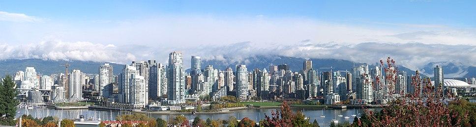 Vancouver skyline across False Creek