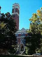 After the fire, Old Main was rebuilt with one tower and renamed Kirkland Hall. It is currently home to Vanderbilt's administration.