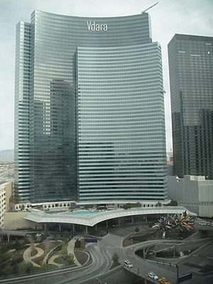 Vdara - Vdara as seen from the Aria