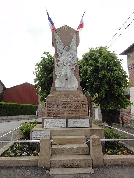 Vendeuil (Aisne) monument aux morts
