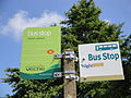 Ventnor Botanic Gardens bus stop flags in July 2011.JPG
