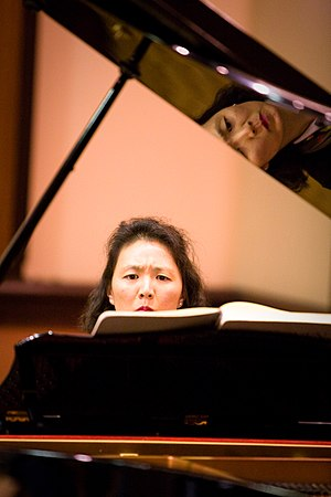 Veritas Forum - Pianist Mia Chung performs as part of an exploration of music, beauty, and truth, 2009.