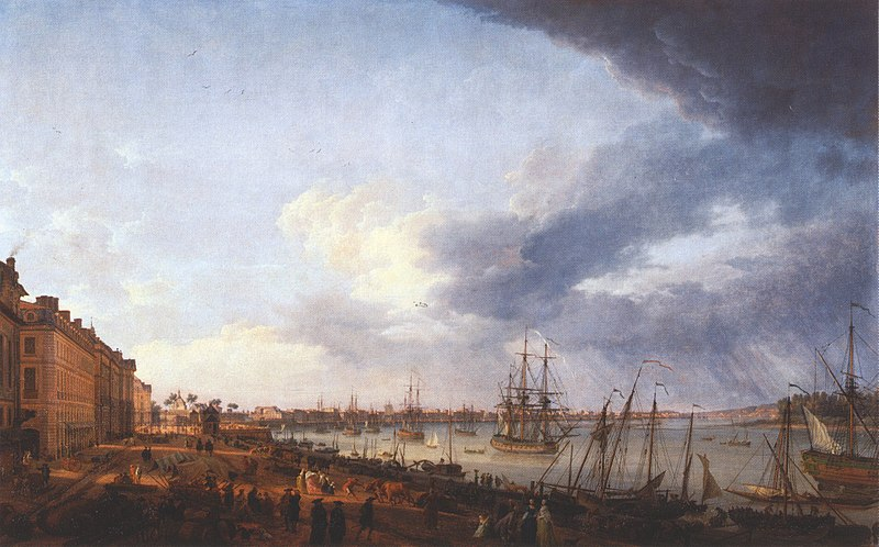 Le port de Bordeaux par Vernet