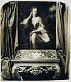 Victorian photo of a portrait of Mary Stanhope, later Viscountess Fane, by G. Schalken, 1702, and a Florentine table c1735.jpg