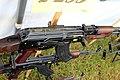 Victory Show Cosby UK 06-09-2015 WW2 re-enactment Trade stalls Militaria personal gear replicas reprod.originals zaphad1 Flickr CCBY2.0 Soviet Kalashnikov AK-47 assault rifle gun for sale IMG 3891.jpg