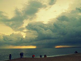 Kollam Beach - View of Arabian Sea from Kollam Beach