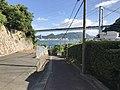 View of Kammonkyo Bridge from path for Hinoyama Park.jpg