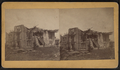 View of a collapsed three-store building, from Robert N. Dennis collection of stereoscopic views.png
