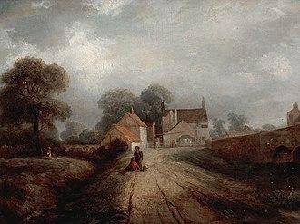 Trent Bridge Inn - The Inn in 1850 by Robert Bradley