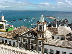 View over Harbour Area from Hotel Arthemis - Salvador - Brazil
