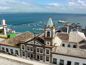 Historic Center (Salvador) - View over harbor area and Old Customs House.