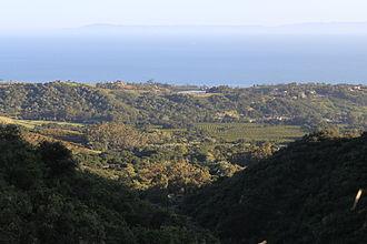 Montecito, California - View over Montecito