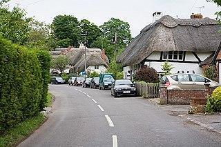 Chilbolton village in the United Kingdom