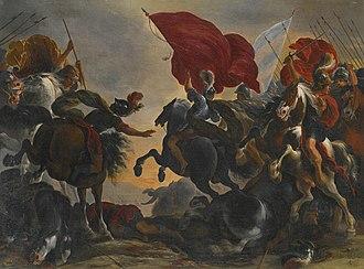 Vincent Adriaenssen - Cavalry battle scene