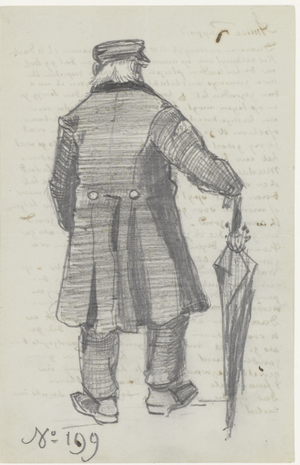 Adrianus Jacobus Zuyderland - Image: Vincent van Gogh Orphan Man with Long Overcoat and Umbrella, Seen from the Back (JH214)