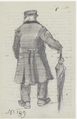 Vincent van Gogh - Orphan Man with Long Overcoat and Umbrella, Seen from the Back (JH214).png