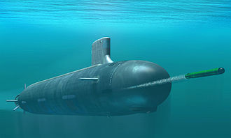 Virginia-class submarine - Rendering of Virginia-class attack submarine