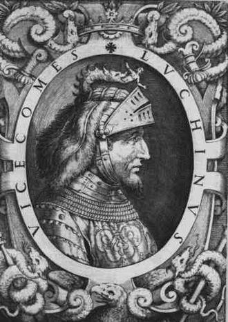 Condottieri - Luchino Visconti defeated the Company of Saint George of Werner von Urslingen at the battle of Parabiago.