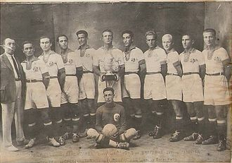 1925 Bulgarian State Football Championship - Vladislav Varna with the title in 1925