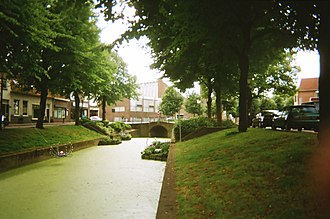 Rijnsburg - The river Vliet flowing through Rijnsburg's old village centre