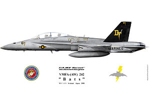 VMFA(AW)-242 - F/A18D color scheme